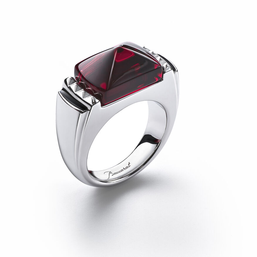 LOUXOR RING, Red mirror