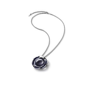 B FLOWER NECKLACE, Black mordore