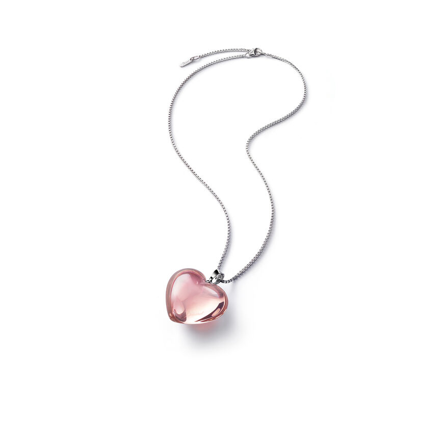 ROMANCE NECKLACE, Light pink mirror
