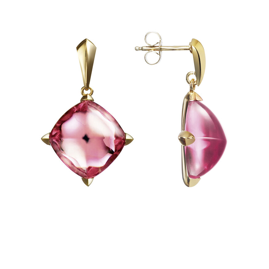 MÉDICIS EARRINGS, Pink mirror - 2