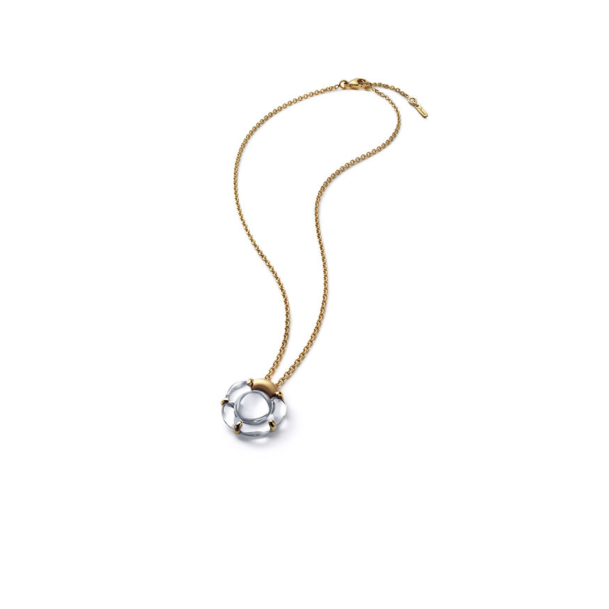 B FLOWER NECKLACE  Mirror clear