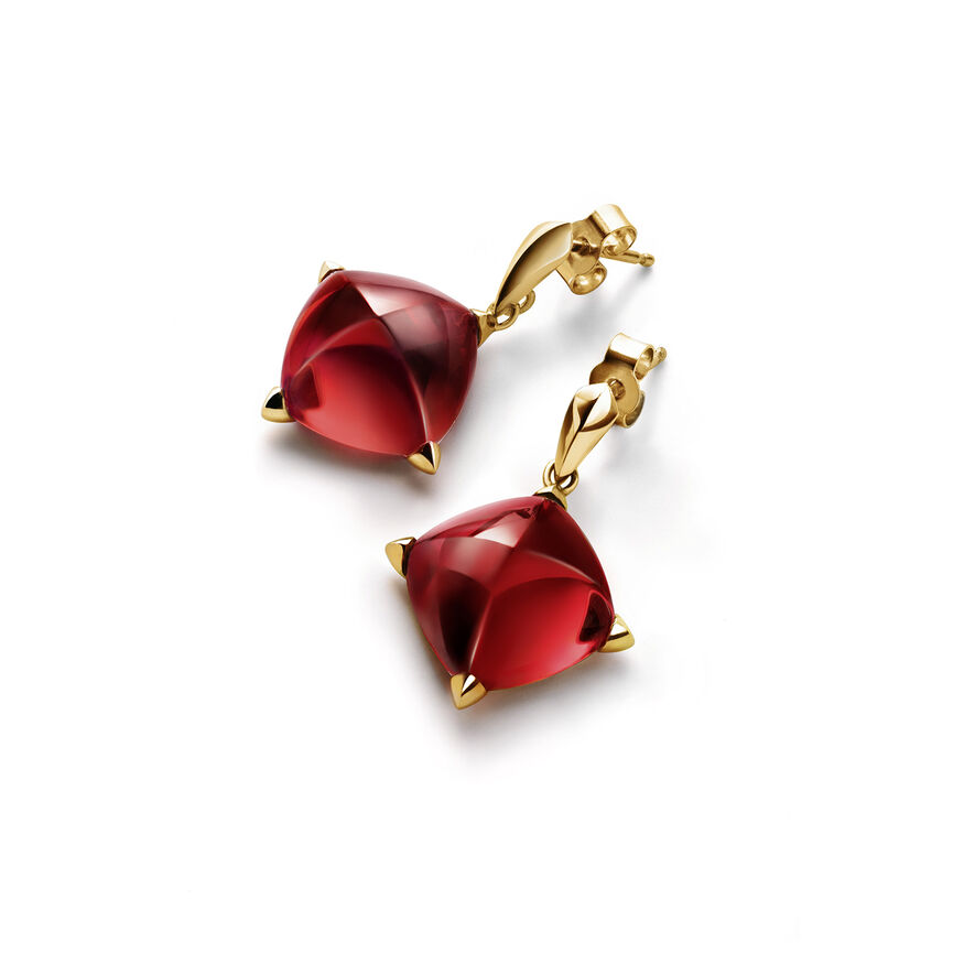 MÉDICIS EARRINGS  Red mirror