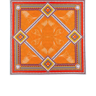 LOUXOR SILK TWILL SCARF, Orange