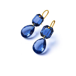 CRYSTAL DROPS OF COLOUR BACCARAT PAR MARIE-HÉLÈNE DE TAILLAC EARRINGS  藍色