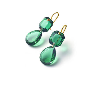 CRYSTAL DROPS OF COLOUR BACCARAT PAR MARIE-HÉLÈNE DE TAILLAC EARRINGS  Green
