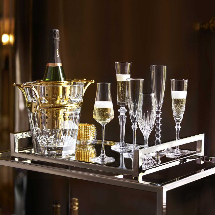 HARCOURT CHAMPAGNE COOLER  Clear & gold - 2