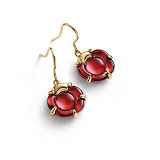 B FLOWER EARRINGS, Red mirror