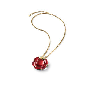 B FLOWER NECKLACE, Red mirror